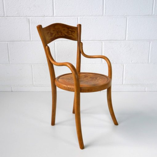 French bentwood children's chair by BAUMANN circa 1914. (2)