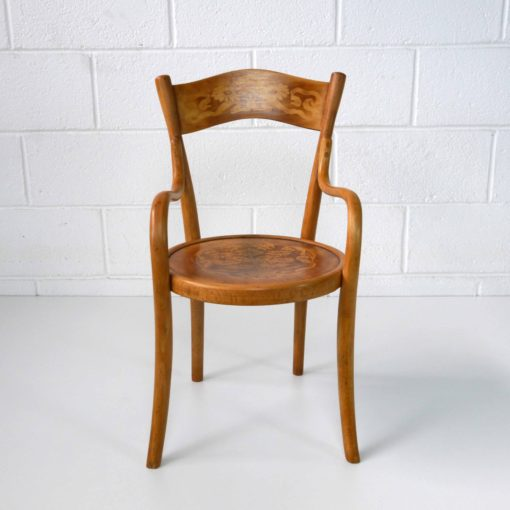 French bentwood children's chair by BAUMANN circa 1914. (3)