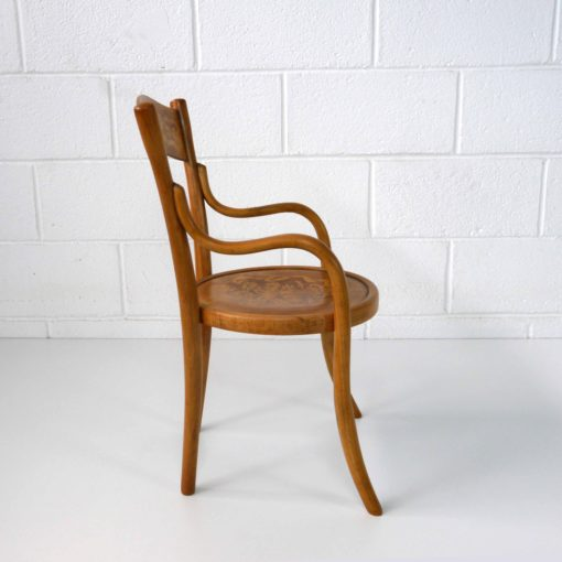 French bentwood children's chair by BAUMANN circa 1914. (5).