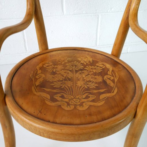 French bentwood children's chair by BAUMANN circa 1914. (7)