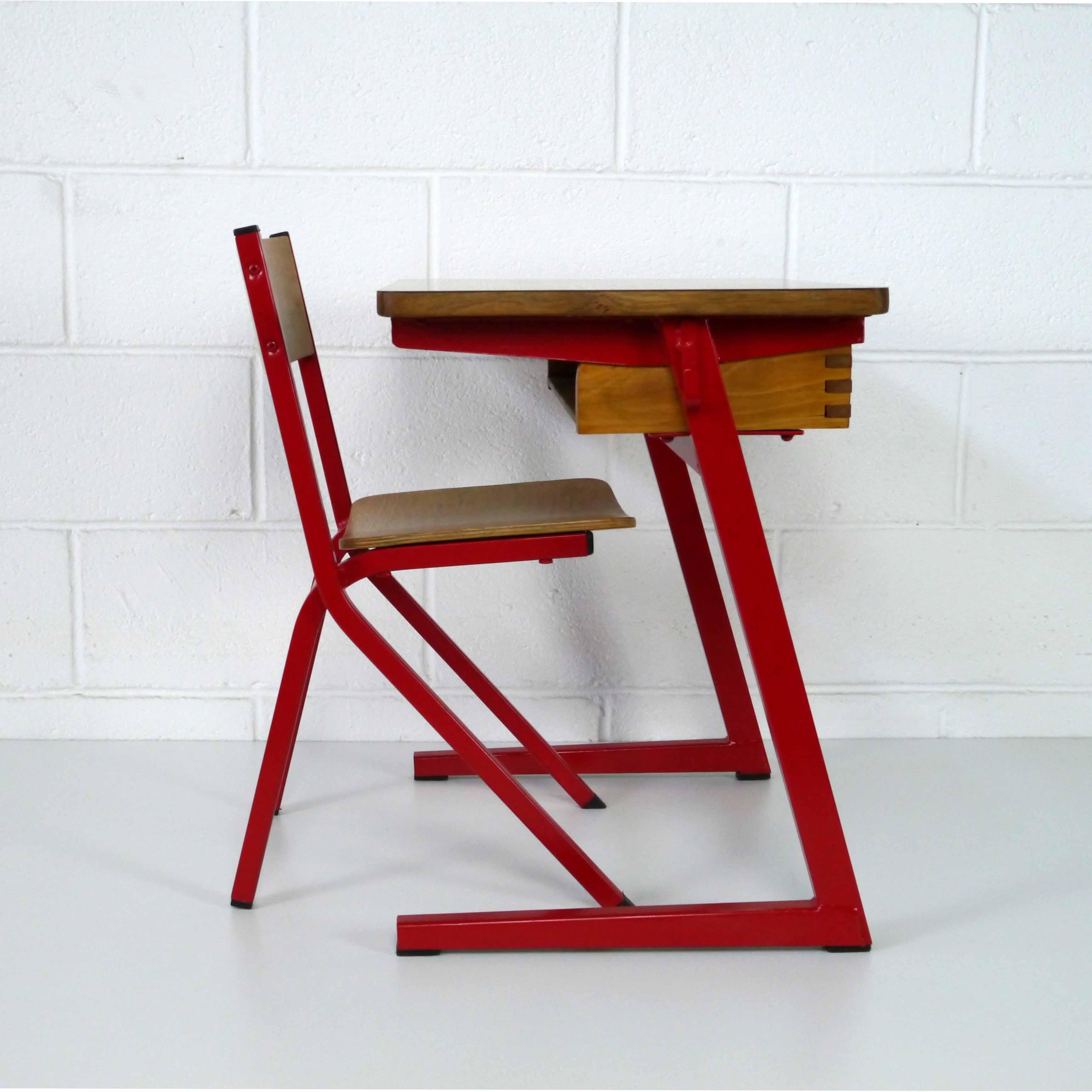 chaise de bureau acier bois