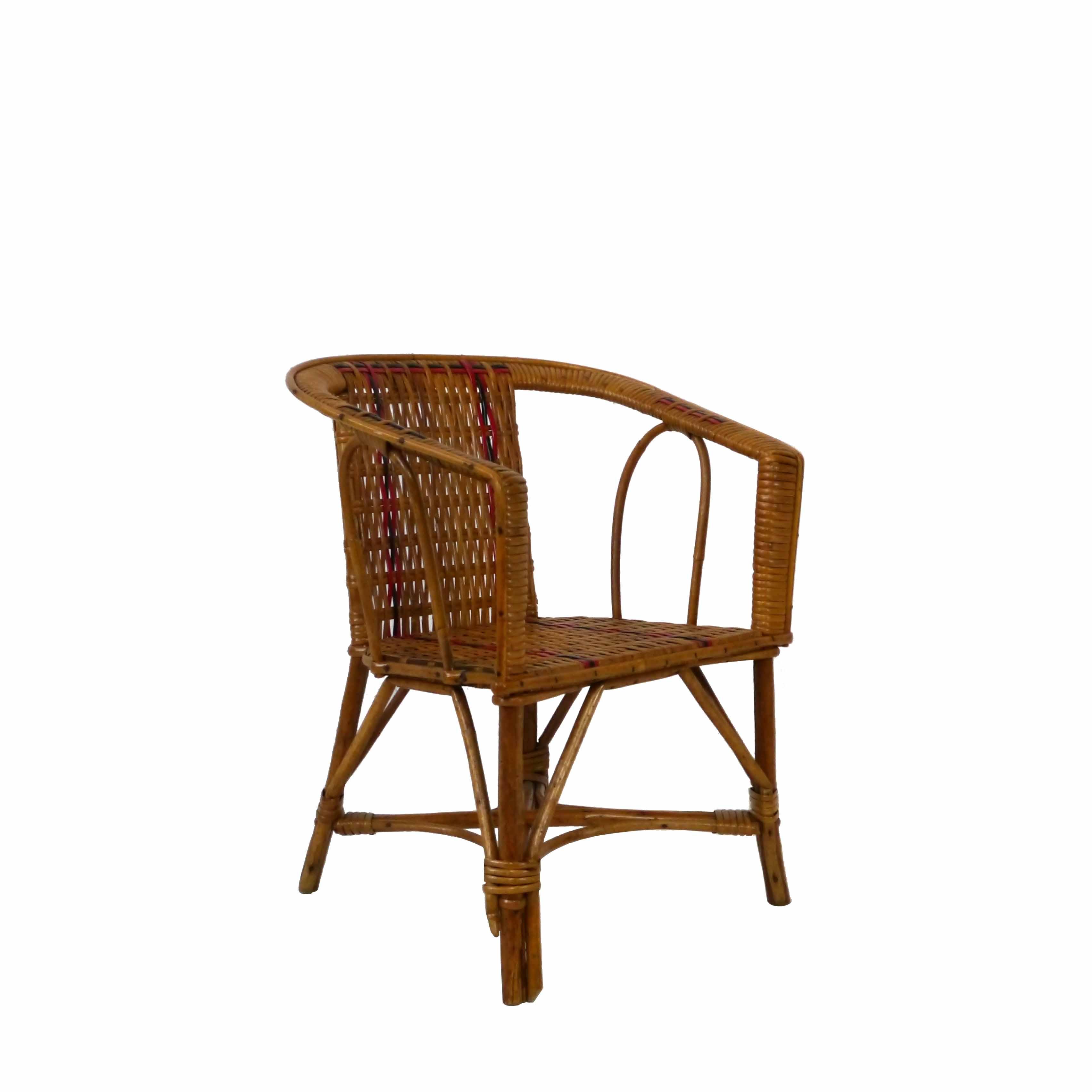Fauteuil Osier Design: Mobilier Vintage Pour