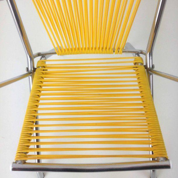 Fauteuil enfant scoubidou jaune (7)