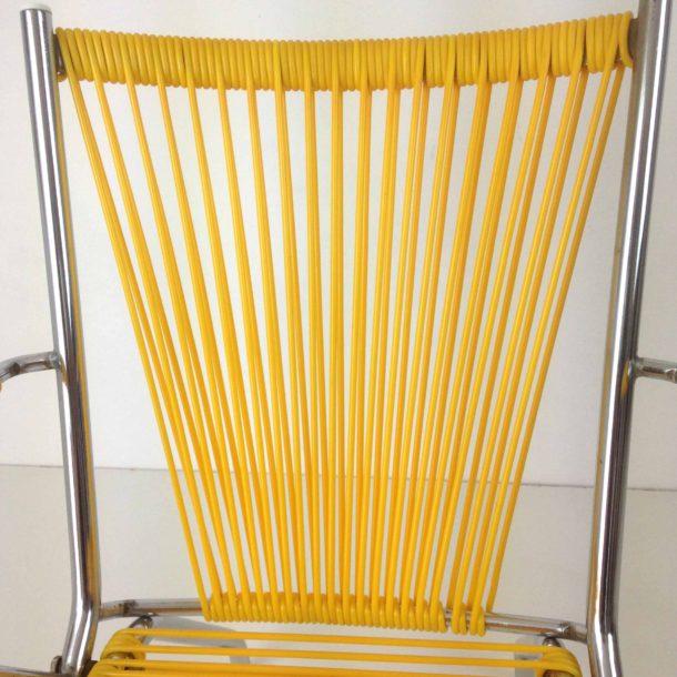 Fauteuil enfant scoubidou jaune (8)