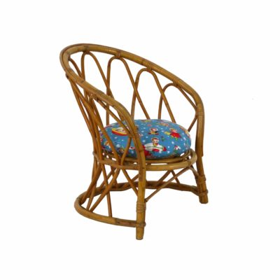 Vintage Rattan Children Armchair