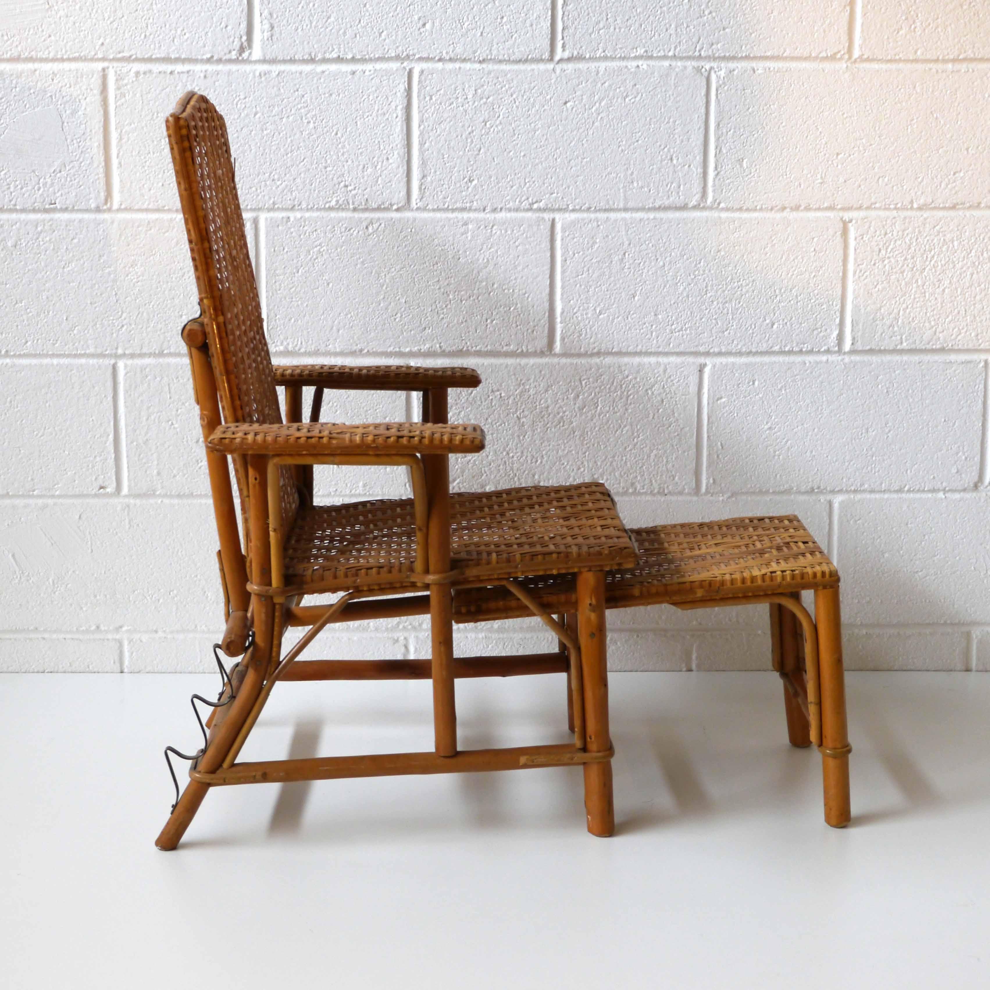 transat enfant rotin vintage la marelle mobilier vintage pour enfant. Black Bedroom Furniture Sets. Home Design Ideas