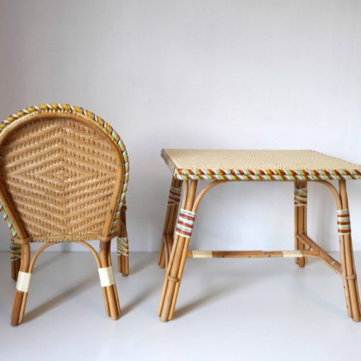Rattan children desk