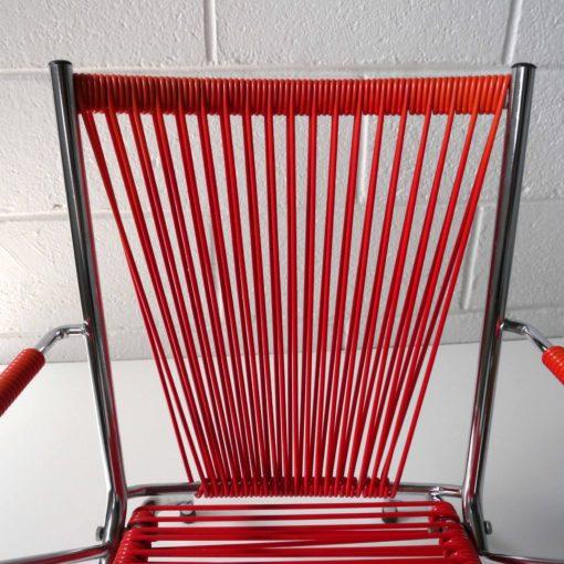 Chaise enfant scoubidou rouge